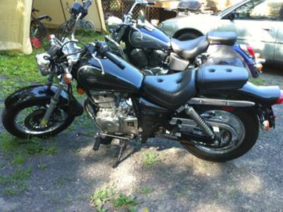 Black and Chrome 2002 Suzuki GZ250 for Sale