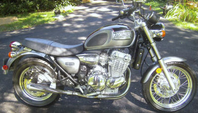 Graphite and black 2002 Triumph Thunderbird