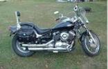 Black 2002 Yamaha V Star Vstar Custom