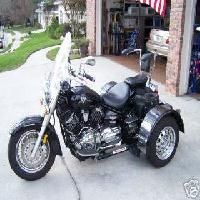2002 Yamaha V Star Classic Voyager kit (this photo is for example only; please contact seller for pics of the actual motorcycle for sale in this classified)