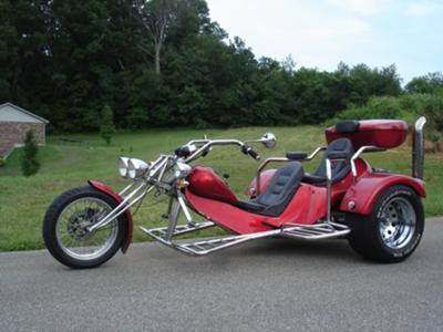 2002 Custom Rewaco VW Chopper Trike w Red Metal Flake Paint