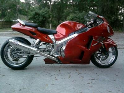 2003 Custom Suzuki Hayabusa with House of Color Kolor Candy Paint Yoshimura exhaust