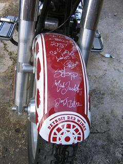 2003 Harley Davidson FLSTF Fat Boy Fatboy Detroit Red Wings Signature Bike