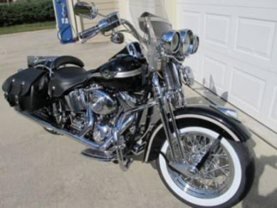 Vivid Black 2003 Harley Davidson Heritage Softail 100th Anniversary Edition Springer (this photo is for example only; please contact seller for pics of the actual motorcycle for sale in this classified)