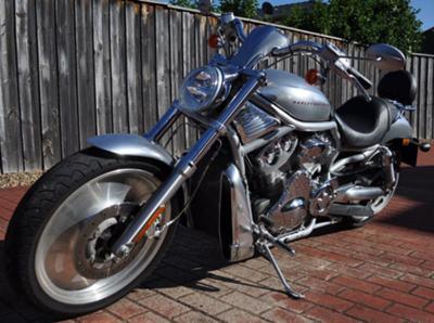 Silver 2003 Harley Davidson Anniversary Edition Heritage VRod