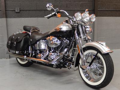 Fuel Injected 2003 Harley Davidson Softail HERITAGE SPRINGER FLSTSI with VIVID BLACK AND STERLING SILVER PAINT COLOR OPTION
