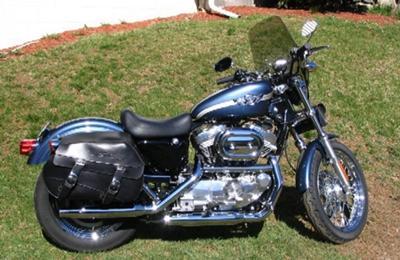 Gunmetal Blue 2003 Harley Davidson XLH883 Sportster 100th Anniversary Edition