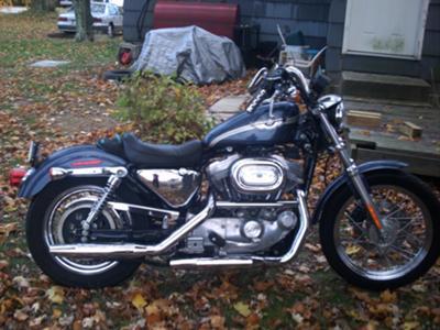 2003 Harley Davidson XLH 883 Sportster GUNMETAL BLUE