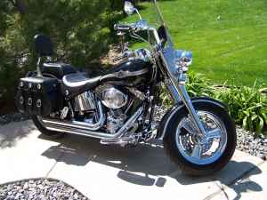 2003 Harley Davidson Fatboy Black and Chrome