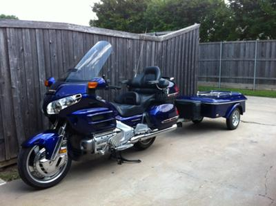 2003 Honda Goldwing GL1800 and Custom Motorcycle Trailer