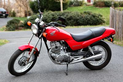 Red 2003 Honda Nighthawk 250cc