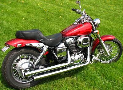 2003 honda shadow spirit 750 candy red with flame graphics. Black Bedroom Furniture Sets. Home Design Ideas