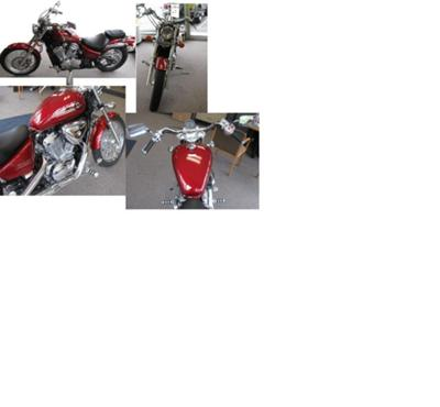 Candy Red 2003 Honda Shadow VLX 600