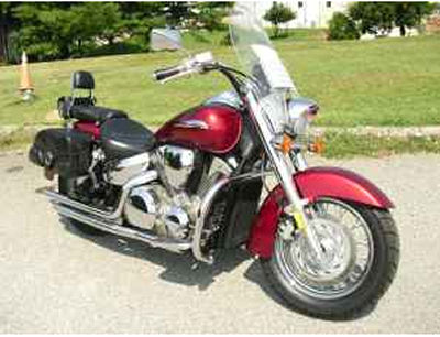 Candy apple red 2003 Honda VTX 1300