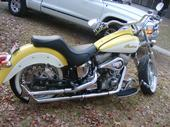 2003 Spirit Deluxe Indian Motorcycle in Yellow and White