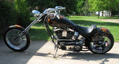 2003 Ultimate Chopper with Custom Punisher Motorcycle Paint Job