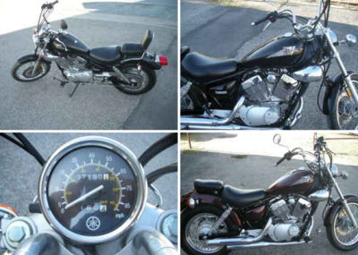 2003 Yamaha Virago XV250  (this photo is for example only; please contact seller for pics of the actual motorcycle for sale in this classified)
