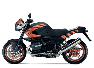 Black and Copper 2004 BMW R1150R ROCKSTER MOTORCYCLE file photo