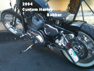 2004 Bobber Sportster with a FAT Tire for Sale