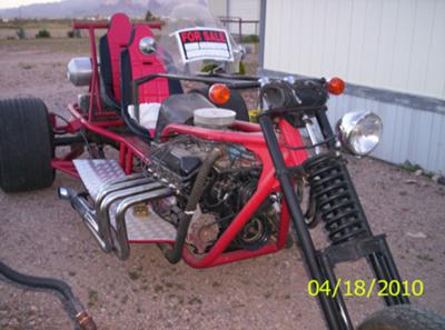 V8 Trikes Homemade http://www.gogocycles.com/2004-custom-ford-trike-motorcycle-for-sale.html
