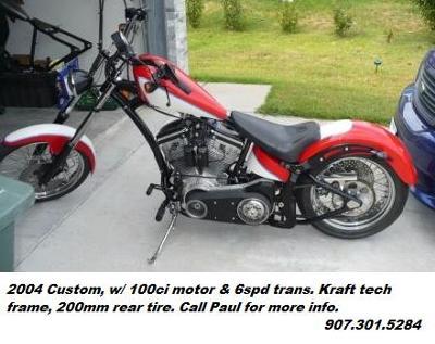 2004 Custom Softail Motorcycle Kraft  tech frame 200mm Rear Tire