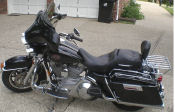 2004 harley davidson electra glide touring motorcycle picture black