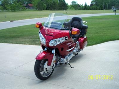 Cherry Red 2004 Honda Goldwing (example only)