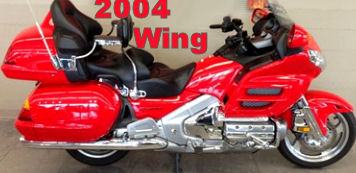 2004 Honda Goldwing GL1800 with red paint color scheme (example only)