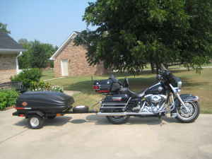 2004 Harley Davidson Ultra Classic and Motorcycle Trailer