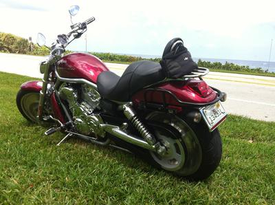 2004 Harley Davidson VRSC V-Rod Vrod V Rod with lava red sunglow paint color option