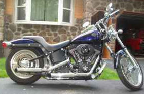 2004 harley davidson night train black blue ghost flames paint softail