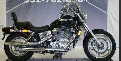 2004 Honda Shadow Spirit 1100 with black paint color option