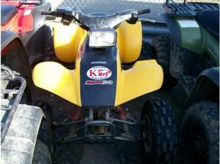 Yellow and Black 2004 Honda Trx300ex7 ATV