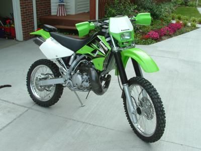 2004 Kawasaki KDX200 (this photo is for example only; please contact seller for pics of the actual dirt bike motorcycle for sale in this classified)
