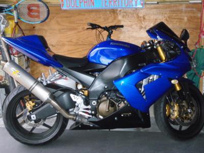 Royal Cobalt Blue And Black 2004 Kawasaki ZX10R Ninja