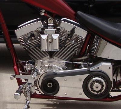 2004 Sain Custom Chopper Belt Drive Engine