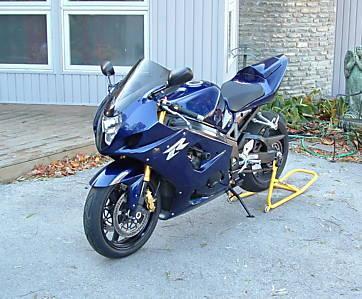 Royal Blue 2004 Suzuki GSXR 1000