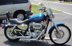 2005 harley davidson 1200 1200c sportster blue
