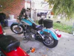 2005 Harley-Davidson Dyna Low Rider Teal Blue and Cream Metallic Fleck Custom Motorcycle Paint (this photo is for example only; please contact seller for pics of the actual motorcycle for sale in this classified)