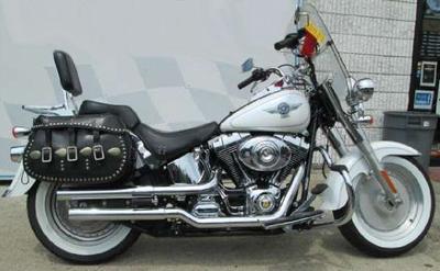 Glacier White Pearl 2005 Harley Davidson FLSTF/FLSTFI Fatboy Fat Boy