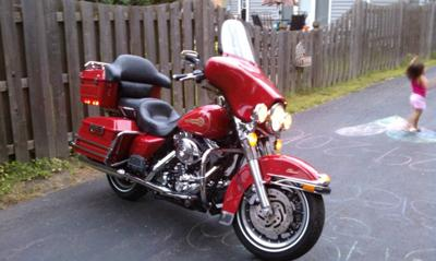 Right Side of the 2005 Harley Davidson FLSTCI Firefighter Special Edition