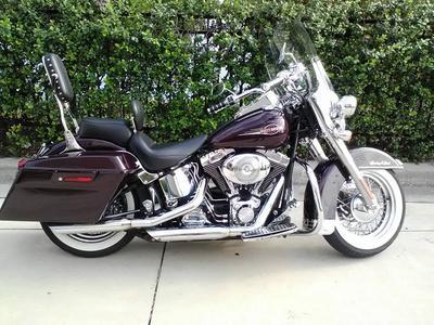 2005 Harley Davidson FLSTCI with Burgundy Paint Color Option