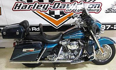 005 Harley Davidson Screamin Eagle Electra Glide w Two-Tone Light Candy Teal / Dark Candy Teal paint color