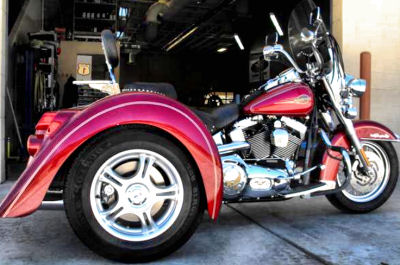 2005 Harley Davidson Heritage Softail trike motorcycle conversion with a Champion trike kit