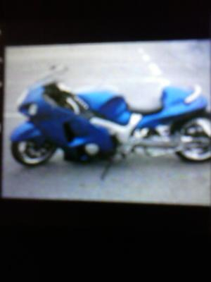 2005 Suzuki Hayabusa with Blue and White paint Color Combination Option