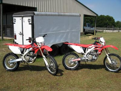 Red and White Honda CRF 250 X for Sale &  Honda CRF 450 X (this photo is for example only; please contact seller for pics of the actual dirt bike for sale in this classified)