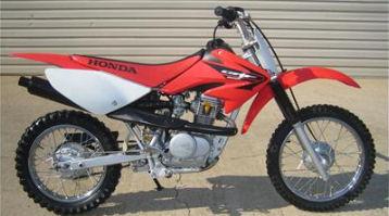 Red 2005 Honda CRF 80 Dirt Bike