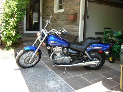 Blue 2005 Kawasaki Vulcan 500