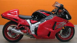 2005 Suzuki 1300R Hayabusa with Red and Black Paint Color Option