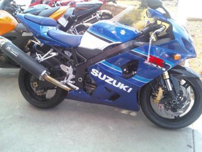 Royal Cobalt Blue 2005 Suzuki GSXR 600
